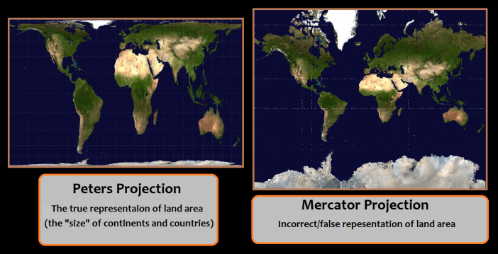 Gall-Peters vs Mercator